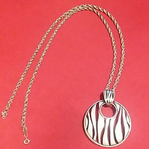 Jewelry - STERLING SILVER ROPE CHAIN W/PENDANT